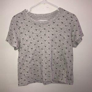 Aerie Ditzy Floral Short Sleeve Shirt 100% Cotton